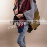 New Fashion Cashmere Jacquard U-Cape CP14092601B