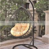 2015 Popular eco friendly PE rattan egg hammock swing hanging ball chair with cushion                                                                         Quality Choice