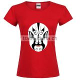 Red 100% pima cotton blank t-shirt customized printing