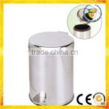 stainless steel foot pedal garbage bin mirror smooth trash bin