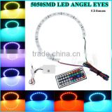 angle eyes light 124mm cut circle White PCB halo ring headlight led taiwan auto body parts