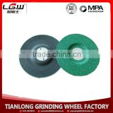 H521 China Resin bonded black brown alumina/white corundum grinding wheel/grinding disc for mental and stainless steel