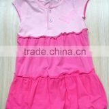 wholesale Pink gradient dress fashion design small baby girls dresses