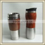 16 Oz Wood & stainless steel Tumbler Wood Mug