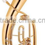 keful 3 keys bb tone baritone tuba Chinese brass wind instrument for sale