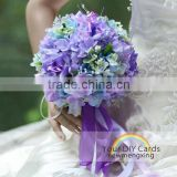 elegant purple fake flowers wedding bouquet design