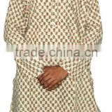 Jaipuri Sanganeri Block Printed Gents Long Kurta from Rajasthan