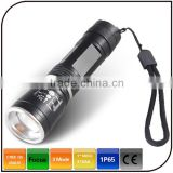 high power beam torch 3 mode cree Q5 rechargeable electric torch aluminum flashlight