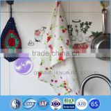 kitchen textile printed tea towel for home decoration linen tea towel for promotion and gift