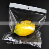 Transparent plastic bag with head card / OPP bags packaging / Customized Opp header card bag