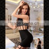 Temptlife Brand TL2212 Wholesale hollow out mini dress Pencil dress sexy Lingerie bodystocking black Girls Sexy Night Club Wear