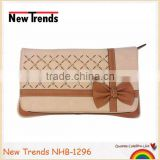 Fashion hollow out with rhinestones and PU flower clutch bag /purse