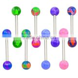 TR01060 resin piercing camouflage tongue rings