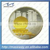 custom novelty zinc alloy double plating metal coins