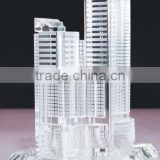 decoration transparant modern building crystal model