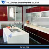 Fashion design solid surface modern italian design kitchen furniture