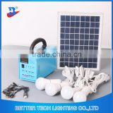 Manufacturer China Solar Power System Home Blue Shell Solar Portable Home Lighting System with 4pcs LED bulbs