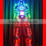 High quality 3D Stilt Walker LED robot Costumes with display screen