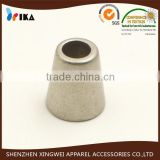 zinc alloy metal rope bell shape end stopper pieces