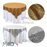 Sequin table cloth gold sequin table overlay                                                                         Quality Choice