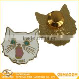 Delicate die cast craft gift custom metal lapel badge promotional custom copper lapel pins