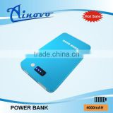 Factory price Utralthin metal case 4000ma polymer battery power bank ,tablet charger