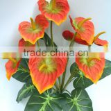 H41cm Red Silk Garden Flowers Artificial Anthurium Plant