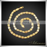 18k Real Gold Plated New Model Jewelry Chain Wholesale Brass Durable Mens Necklace