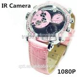 HD1080P WaterProof MINI DVR Lady Wrist Watch Hidden Camera