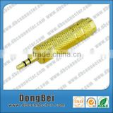 Gold Plated Audio Connector High Quality Copper Metal Banana Plug