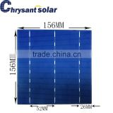 156*156mm 6 inch High Efficiency 18% Polycrystalline Silicon Solar cell with 3 Bus-Bars for sale