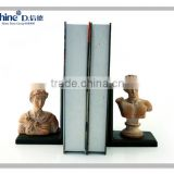 polyresin craft nude famous man bust statue bookend for home decoration