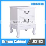 Best choice antique wood furniture bedside table short good quality white painting nightstand