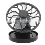 New cooling energy saving clip on solar cell fan sun power energy panel fan