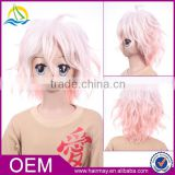 New design high heat-resistant pink/blue/green/yellow synthetic japanese hot cosplay wig