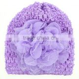 Fashion Newborn Baby Girl Toddlers SOFT Handmade Cap Flower Crochet Beanie Knitted Hat 6 Colors