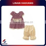 china hot sale high quality baby knit two setamerican girl clothes wholesale manufacturer