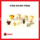 Factory Supply Natural material drawer wood door handles wood knob / wood gear knob / wooden pull