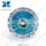 Loose round brilliant cut multi color evil eye CZ stone for jewelry