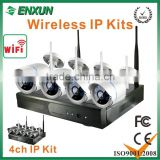 wholesale hot- wirleless ip cmaera kits 4ch infrared cctv security camera system outdoor