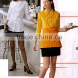 Customize elegant hotel housekeeping uniform