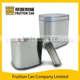 Candy tin with round corner lid for cookie tin, decorative tin, tea tin, coffee tin, biscuits tin