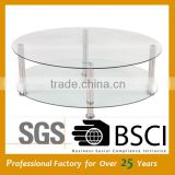 African coffee table simple design glass coffee table JY-13C