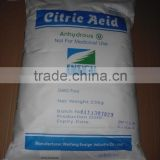High quality Citric Acid Anhydrous food grade
