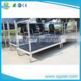 durable material adjustable height aluminum bleachers used for concert and school activities