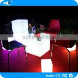 Indoor and outdoor make LED light cube furniture illuminated LED cube glowing cube chair