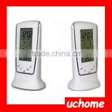UCHOME Yiwu Factory Sell LED Pretty Digital Lcd Calendar Thermometer Musical Alarm Clocks For Kids
