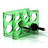 Latest Design Customized Size Bar Wine Rack Display Plexiglass Wine Bottle Holder Wine Rack