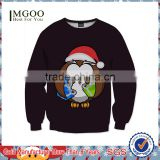 MGOO 2016 Christmas Black Fleece Sweatshirt China Made Classic Fit Men Apparel Screen Printed Cotton Sweatshirts