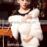 Elegant mink Fur Wedding Shawl for Bridal Dress Winter Fashion Wide Plush Woman Faux Fur Shawl